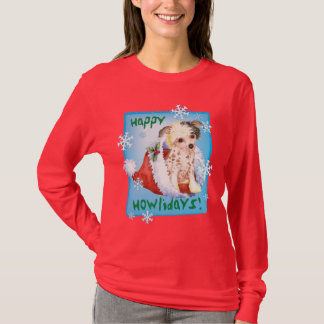 Happy Howliday Chinese Crested T-Shirt