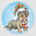 Happy Howliday Dachshund Sticker