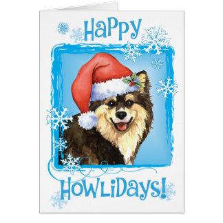 Happy Howliday Finnish Lapphund Card