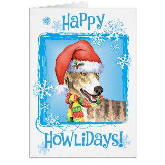 Happy Howliday Greyhound Card