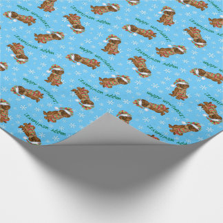 Happy Howliday Irish Water Spaniel Wrapping Paper