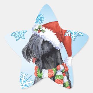 Happy Howliday Kerry Blue Terrier Star Sticker