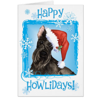 Happy Howliday Scottish Terrier Card