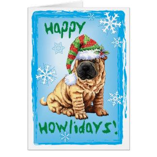 Happy Howliday Shar-Pei Card