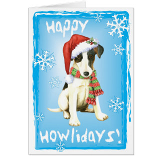 Happy Howliday Smooth Fox Terrier Card