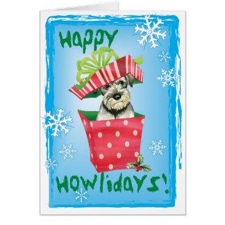 Happy Howliday Standard Schnauzer Card