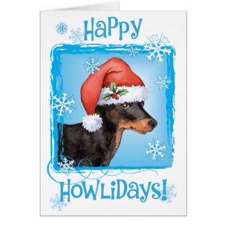 Happy Howliday Toy Manchester Terrier Card