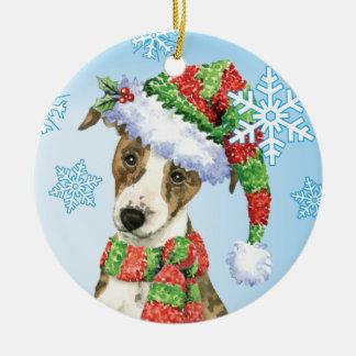 Happy Howliday Whippet Ceramic Ornament