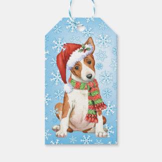 Happy Howlidays Basenji Gift Tags