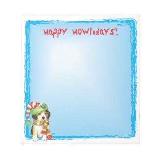 Happy Howlidays Beagle Notepad