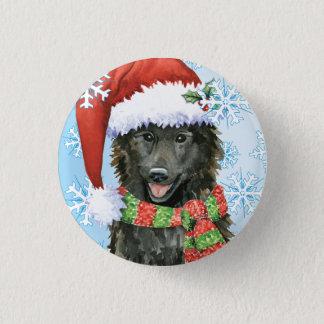 Happy Howlidays Belgian Sheepdog 1 Inch Round Button