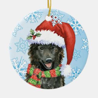 Happy Howlidays Belgian Sheepdog Ceramic Ornament