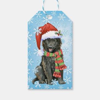 Happy Howlidays Belgian Sheepdog Gift Tags