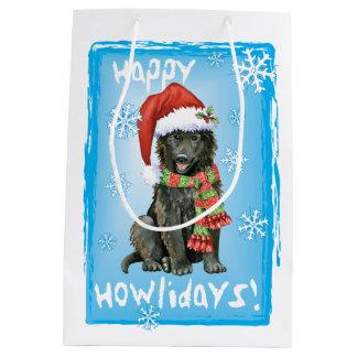 Happy Howlidays Belgian Sheepdog Medium Gift Bag