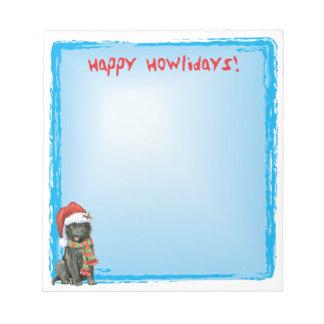 Happy Howlidays Belgian Sheepdog Notepad