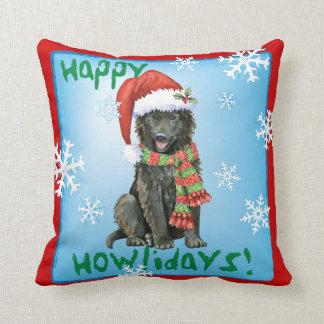 Happy Howlidays Belgian Sheepdog Throw Pillow