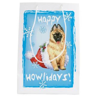 Happy Howlidays Belgian Tervuren Medium Gift Bag