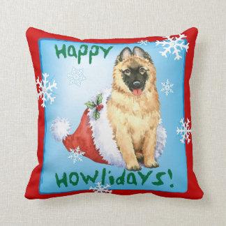 Happy Howlidays Belgian Tervuren Throw Pillow