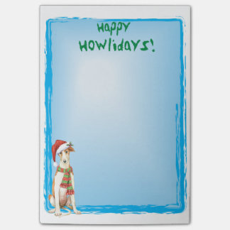 Happy Howlidays Borzoi Post-it Notes