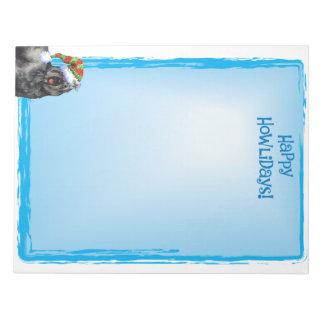 Happy Howlidays Bouvier Notepad