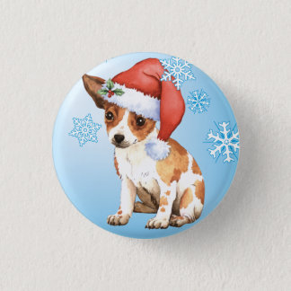 Happy Howlidays Chihuahua 1 Inch Round Button