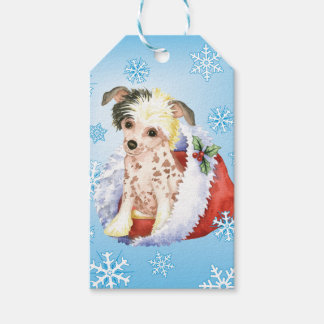 Happy Howlidays Chinese Crested Pack Of Gift Tags