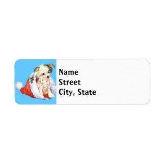 Happy Howlidays Chinese Crested Return Address Label