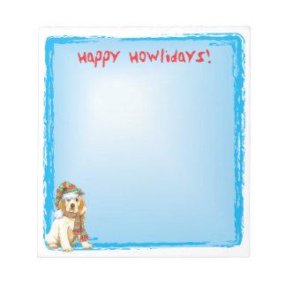 Happy Howlidays Clumber Spaniel Notepad