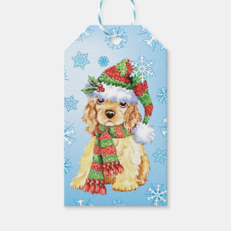 Happy Howlidays Cocker Spaniel Pack Of Gift Tags