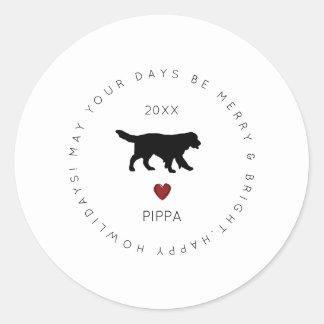 Happy Howlidays Dog Sticker   Golden Retriever