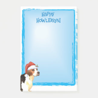 Happy Howlidays English Foxhound Post-it Notes