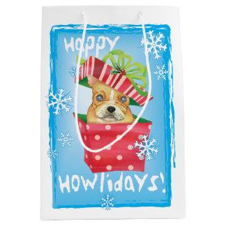 Happy Howlidays Frenchie Medium Gift Bag