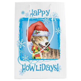 Happy Howlidays Greyhound Medium Gift Bag