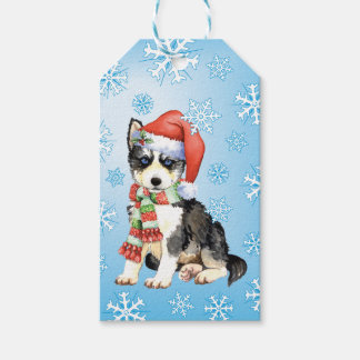 Happy Howlidays Husky Pack Of Gift Tags