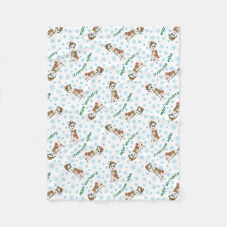 Happy Howlidays Italian Greyhound Fleece Blanket