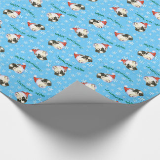 Happy Howlidays Japanese Chin Wrapping Paper