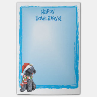 Happy Howlidays Kerry Blue Terrier Sticky Note