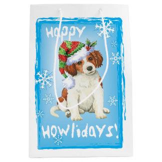 Happy Howlidays Kooikerhondje Medium Gift Bag
