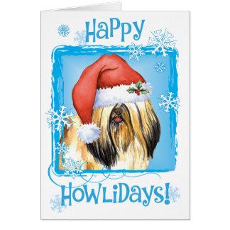 Happy Howlidays Lhasa Apso Card