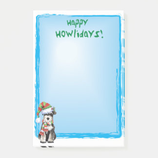 Happy Howlidays Miniature Schnauzer Post-it Notes