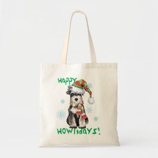Happy Howlidays Miniature Schnauzer Tote Bag