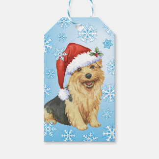 Happy Howlidays Norfolk Terrier Gift Tags