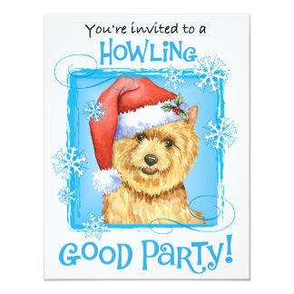 "Happy Howlidays Norwich Terrier 4.25"" X 5.5"" Invitation Card"