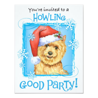 Happy Howlidays Norwich Terrier Card