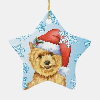 Happy Howlidays Norwich Terrier Ceramic Star Ornament
