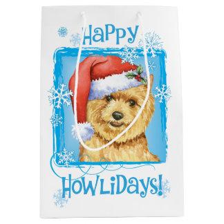 Happy Howlidays Norwich Terrier Medium Gift Bag