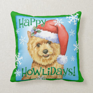 Happy Howlidays Norwich Terrier Pillows