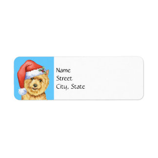 Happy Howlidays Norwich Terrier Return Address Label