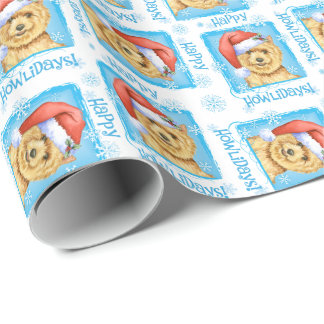 Happy Howlidays Norwich Terrier Wrapping Paper