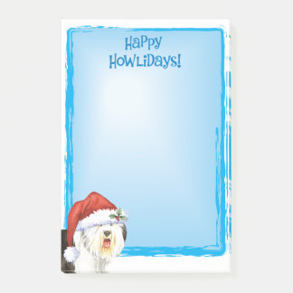 Happy Howlidays Old English Sheepdog Post-it Notes